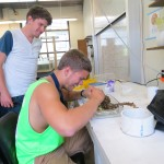 Science is FUN!!! (Another REU student from Colorado, Spencer, to the left)