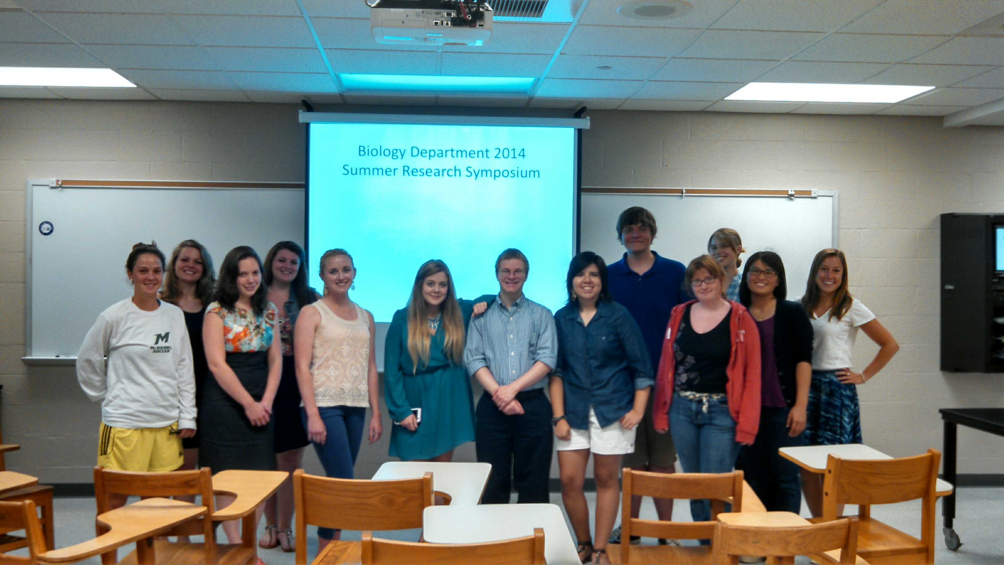 Summer 2014 Bio Research Students