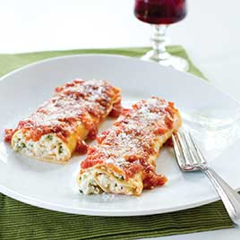 An example of what manicotti looks like