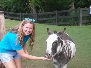 Amanda and the pony!