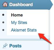 Akismet Stats screenshot